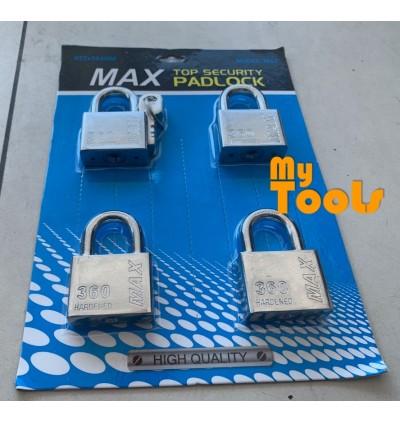 Mytools 4pcs Pad lock Key Alike 50mm Padlock Hardened