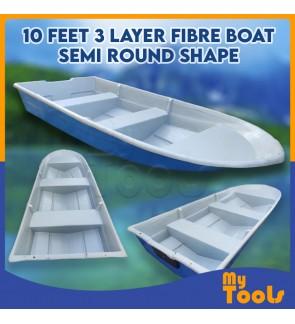 Mytools 10 Feet 3 Layer Fibre Boat Semi Round Shape (Random Color)