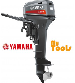 Yamaha Enduro E15DMHS 2 Stroke 15hp Short Shaft Petrol Engine Outboard c/w External Fuel Tank (Made In Japan)