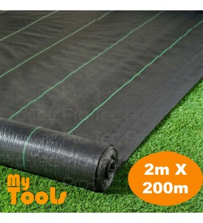 Mytools 2M X 200M Weedmat Landscape Weed Control Mat Woven Ground Cover Membrane Gardening