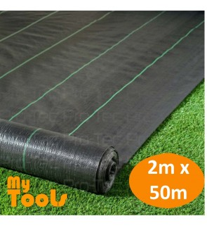 Mytools 2M X 50M Weedmat Landscape Weed Control Mat Woven Ground Cover Membrane Gardening
