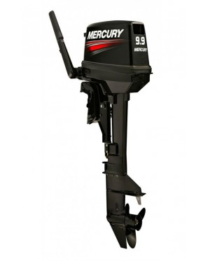 Mercury 9.9MH 9.9HP 2 Stroke Petrol Engine Outboard c/w Qiuksilver Fuel Tank (Made In Japan)