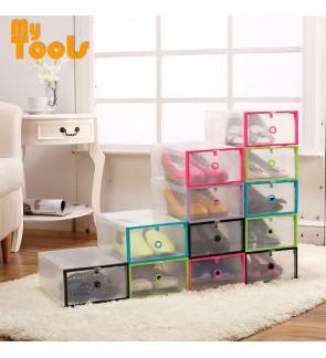 Mytools 1 PCS Transparent plastic Shoe Box Men Women Shoes Storage Box - Blue