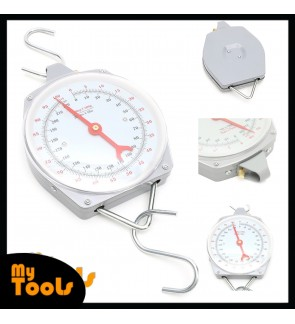 Mytools 100kg 220lbs Hanging Scale Capacity Alloy Mechanical Scales With 2 Hook