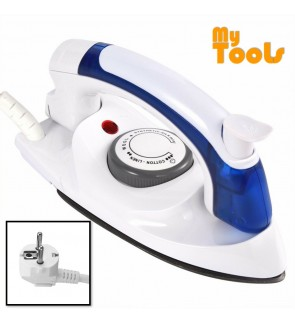 Mytools Travel Portable Steam Iron Electric Mini Foldable Handheld Dry Iron Temperature Control