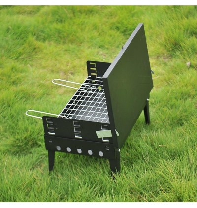Mytools Portable BBQ Barbecue Grill Briefcase Folding Camping Charcoal Stove Outdoor Kitchen Cooking Accessories Cookware
