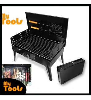 Mytools Portable BBQ Barbecue Grill Briefcase Folding Camping Charcoal Stove