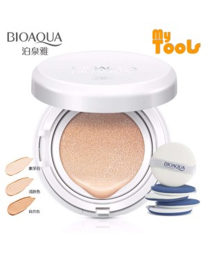 Bioaqua Snow BB Cream Air Cushion SPF50 Extreme Bare Make Up Complete Coverage Compact Foundation 15g
