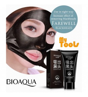 Bioaqua Blackhead Remover Cleaner Purifying Deep Cleansing Acne Black Mud Face Mask Peel-off 60g