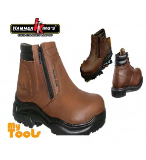 Mytools Hammer King Genuine Leather Safety Shoes Boots Model 13005 High Cut