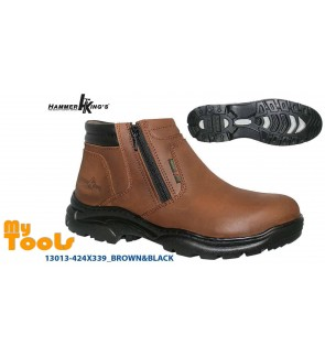 MYTOOLS HAMMER KING MEN GENUINE LEATHER SAFETY SHOE (MODEL : 13014)