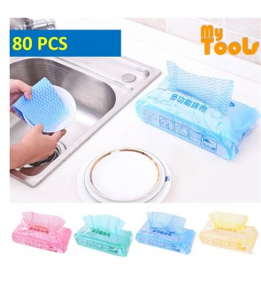 Mytools 80 Pcs Kitchen Non-woven Dry Towel Dishcloth Rag Oil Disposable Wiping Absorbent Cleaning Cloth Cleaning Wiping Rags Tissue