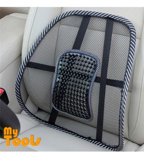 Mytools Black Cool Mesh Cloth Car Seat Cushion Lumbar Office Chair Waist Back Support Pillow