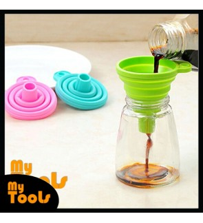 Mytools Silicone Folding Funnels Kitchen Tools Foldable Mini Collapsible Portable Funnel