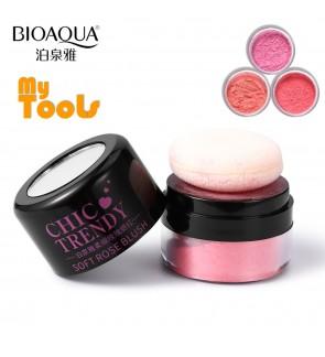 Mytools BIOAQUA Chic Trendy Blush Soft Rose Blusher Powder Easy Makeup Puff