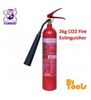 Mytools Flammart 2kg CO2 Carbon Dioxide Gas Fire Extinguisher SIRIM Approved Pemadam Api