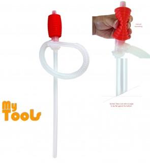 Mytools Siphon Manual Hand Pump Gas Oil Water Liquid Transfer Hose for Car Motorcyle Truck Liquid