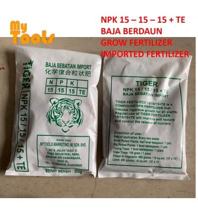 TIGER 500G Imported Growing Fertilizer Baja Berdaun Import 15-15-15+TE
