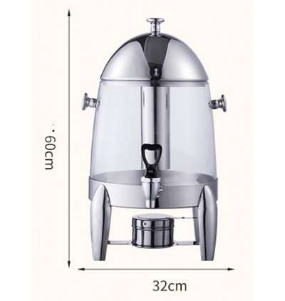 12L Deluxe Stainless Steel Coffee Juice Fruit Water Dispenser Cold Hot 12 Liter