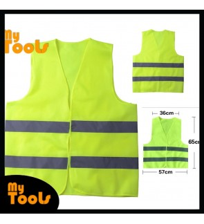 Mytools Safety Vest Visibility Security Traffic Enclosure with Velcro Stick-On Pad Polyster Safety Vest