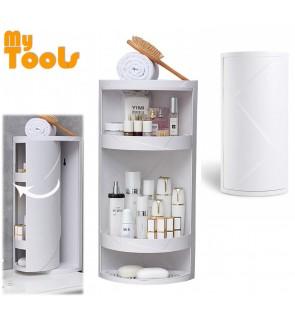 Mytools 360° Rotating Bathroom Shelf Kitchen Toilet Triangle Storage Rack Wall Large Storage Box Cabinet (random color)