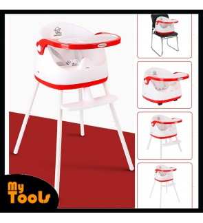 5 In 1 Baby Safety Dining High Chair Booster Seat With Wheels