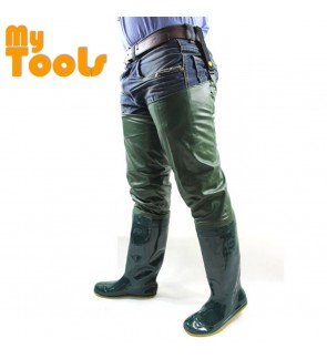 Mytools High Waist Pants Rain Boots Shoes Water Pant Men Women over-the-Knee Waterproof  Rain-proof Fishing Boot Shoe Waders