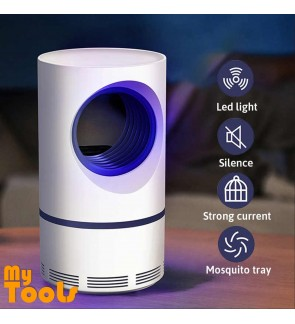 Mytools Mosquito Killer Lamp LED Mosquitoes Repellent Portable Purple Vortex Mute Electric USB Powered Insect Pest Bug Catcher Silent Light UV LED Trap Kids Baby