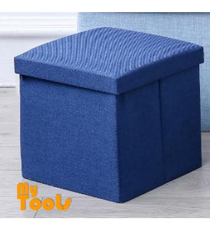 Mytools Foldable Storage Ottoman Fabric Foot Stool Seat Footrest Folding Storage Box (30 x 30 x 30)