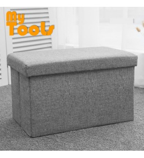 Mytools Foldable Storage Ottoman (50 x 30 x 30) Fabric Foot Stool Seat Footrest Folding Storage Box