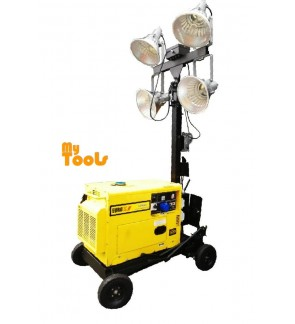 Mytools Mobile Lighting Tower Power by Diesel Engine 4X400 Watts Lamps Model Europower TDH 6505