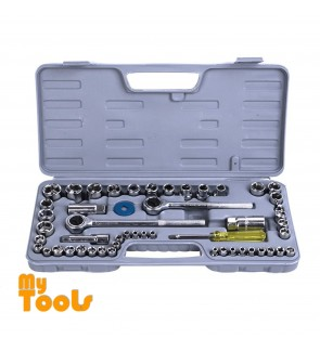 Mytools 52 pcs Spanner Socket Set Ratchet Wrench Set Car Motorcycle Motor Bicycle Repair Tool box set
