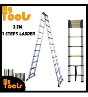 Mytools 3.2M + 3.2M Double-Sided Multipurpose Telescopic Extendable Aluminium Ladder