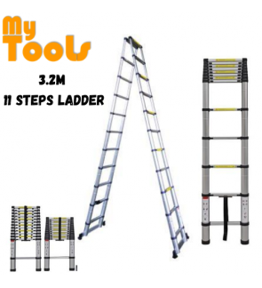Mytools 3.2M Double-Sided Multipurpose Telescopic Extendable Aluminium Ladder
