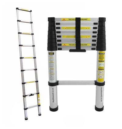 Mytools 3.8M 13 Steps Multipurpose Telescopic Extendable Aluminium Ladder