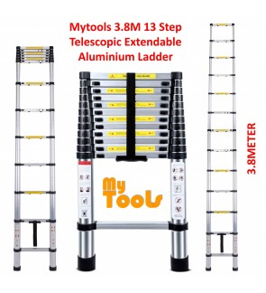 Mytools 3.8M 13 Steps Multipurpose Telescopic Extendable Aluminium Ladder