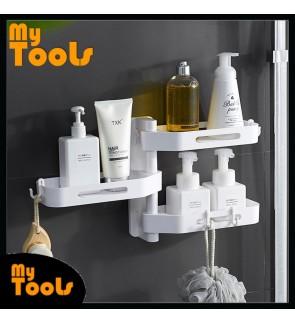 Mytools 3 Tier Wall Mount Organizer Shelf Storage Holder Rack for Bathroom Washroom Kitchen