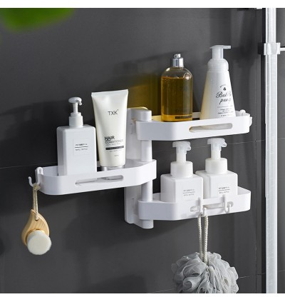 Mytools 3 Tier Wall Mount Organizer Shelf Storage Holder Rack for Bathroom Washroom Kitchen