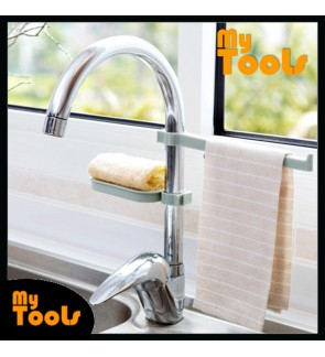 Mytools Water Tap Sink Hanging Storage Rack Dish Cloth Towel Holder Drain Shelf