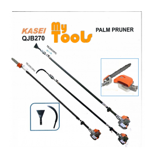 Kasei QJB280 Petrol Garden tools Telescopic Oil Palm Tree Pruner Pole Saw