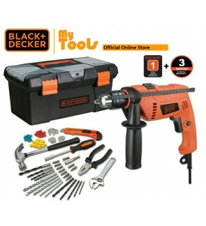 Black + Decker HD650BXH-XD 650W 13mm Hammer Drill With Home Starter Kits ( HD650BXH )