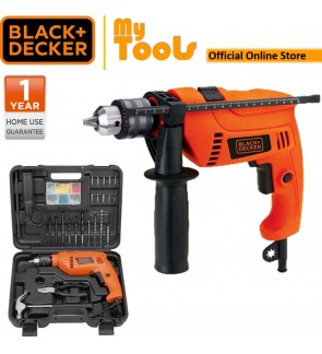 BLACK + DECKER HD555KOPR 550W 13MM Hammer Drill With 88 Accessories Diy Set