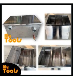 Mytools 45L Stainless Steel Grease Trap Oil Interceptor / Perangkap Minyak 45 Liter Restaurant / Kitchen