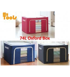 Mytools 74L Large Oxford Cloth Dual Opening Organizer Foldable Storage Box Organiser Clothes for wardrobe rack