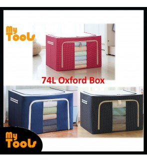 Mytools 74L/100L Large Oxford Cloth Dual Opening Organizer Foldable Storage Box Organiser Clothes for wardrobe rack