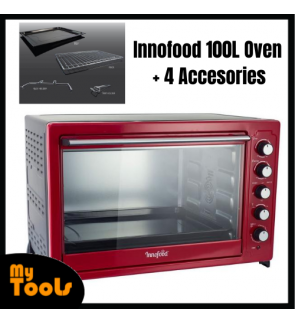 INNOFOOD 100 Litres Commercial Electric Oven With Fan Assisted Interior Lighting Independent Temperature Control