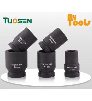 "Mytools Premium TUOSEN  1"" Inch Drive Hi-Torq 6 Point Impact Box Socket"