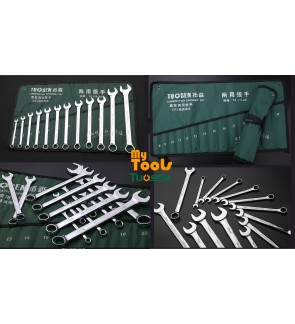 Mytools Premium TUOSEN 14PCS Combination Wrench Spanner Set Chrome Vanadium Tool Set Common Ring Spanner Set