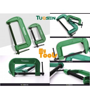 "Mytools Premium TUOSEN 3"" 4"" 5"" 6"" 8"" G Clamp Shaped Adjustable Working Heavy Duty Pengapit G"