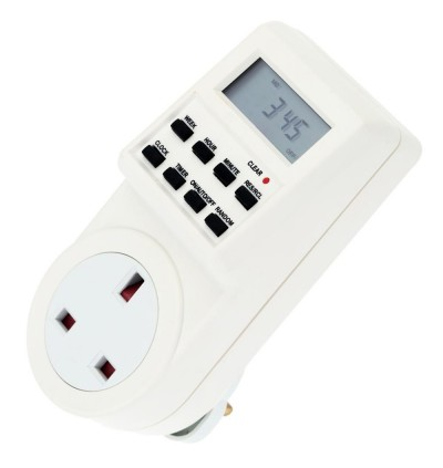 Mytools 13A Digital Timer Plug In Timer 24 Hours (Back up Battery)